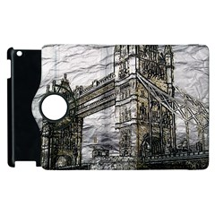 Metal Art London Tower Bridge Apple iPad 3/4 Flip 360 Case
