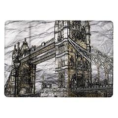 Metal Art London Tower Bridge Samsung Galaxy Tab 10 1  P7500 Flip Case
