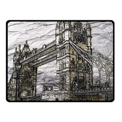 Metal Art London Tower Bridge Double Sided Fleece Blanket (small)