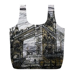 Metal Art London Tower Bridge Full Print Recycle Bags (L)