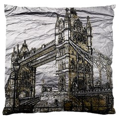 Metal Art London Tower Bridge Large Flano Cushion Cases (Two Sides)
