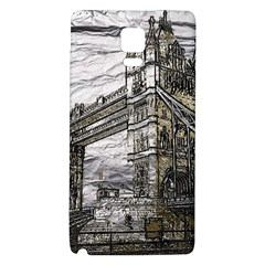 Metal Art London Tower Bridge Galaxy Note 4 Back Case