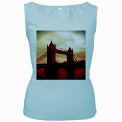 London Tower Bridge Red Women s Baby Blue Tank Tops