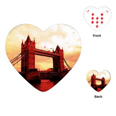 London Tower Bridge Red Playing Cards (heart)