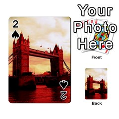 London Tower Bridge Red Playing Cards 54 Designs
