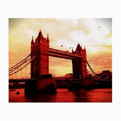 London Tower Bridge Red Small Glasses Cloth (2-Side)