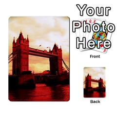 London Tower Bridge Red Multi-purpose Cards (Rectangle)