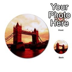 London Tower Bridge Red Multi-purpose Cards (Round)