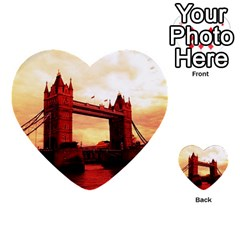London Tower Bridge Red Multi Purpose Cards (heart)