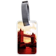 London Tower Bridge Red Luggage Tags (One Side)