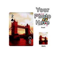 London Tower Bridge Red Playing Cards 54 (mini)