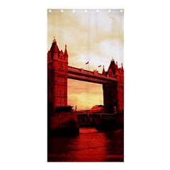 London Tower Bridge Red Shower Curtain 36  x 72  (Stall)