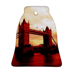 London Tower Bridge Red Ornament (bell)