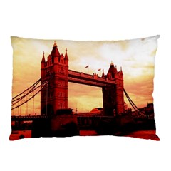 London Tower Bridge Red Pillow Cases (two Sides)