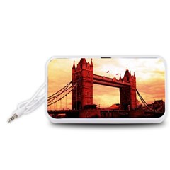 London Tower Bridge Red Portable Speaker (White)
