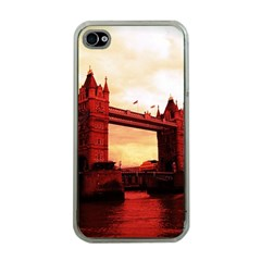 London Tower Bridge Red Apple iPhone 4 Case (Clear)