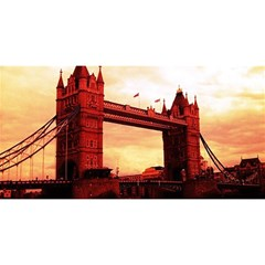 London Tower Bridge Red You Are Invited 3d Greeting Card (8x4)