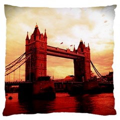 London Tower Bridge Red Large Cushion Cases (One Side)