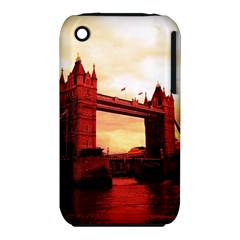 London Tower Bridge Red Apple iPhone 3G/3GS Hardshell Case (PC+Silicone)