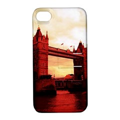 London Tower Bridge Red Apple iPhone 4/4S Hardshell Case with Stand