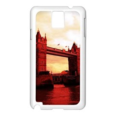 London Tower Bridge Red Samsung Galaxy Note 3 N9005 Case (White)