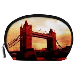 London Tower Bridge Red Accessory Pouches (Large)