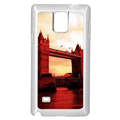 London Tower Bridge Red Samsung Galaxy Note 4 Case (White)