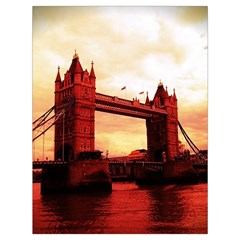 London Tower Bridge Red Drawstring Bag (Large)
