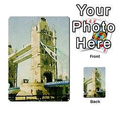 Watercolors, London Tower Bridge Multi-purpose Cards (Rectangle)