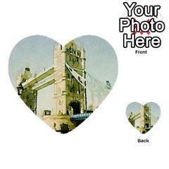 Watercolors, London Tower Bridge Multi Purpose Cards (heart)
