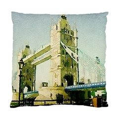 Watercolors, London Tower Bridge Standard Cushion Cases (Two Sides)