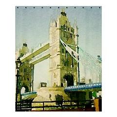 Watercolors, London Tower Bridge Shower Curtain 60  X 72  (medium)