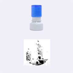 Watercolors, London Tower Bridge Rubber Round Stamps (Small)
