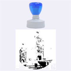 Watercolors, London Tower Bridge Rubber Round Stamps (large)