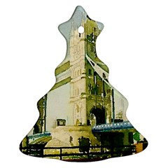 Watercolors, London Tower Bridge Christmas Tree Ornament (2 Sides)