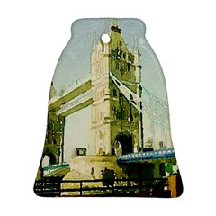 Watercolors, London Tower Bridge Bell Ornament (2 Sides)