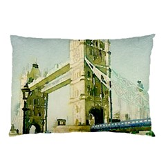 Watercolors, London Tower Bridge Pillow Cases (Two Sides)
