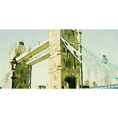 Watercolors, London Tower Bridge YOU ARE INVITED 3D Greeting Card (8x4)