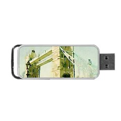 Watercolors, London Tower Bridge Portable USB Flash (One Side)
