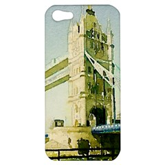 Watercolors, London Tower Bridge Apple iPhone 5 Hardshell Case