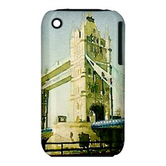 Watercolors, London Tower Bridge Apple Iphone 3g/3gs Hardshell Case (pc+silicone)