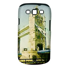 Watercolors, London Tower Bridge Samsung Galaxy S III Classic Hardshell Case (PC+Silicone)