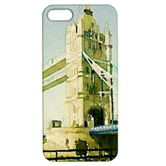 Watercolors, London Tower Bridge Apple iPhone 5 Hardshell Case with Stand