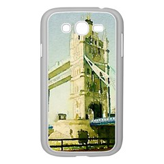 Watercolors, London Tower Bridge Samsung Galaxy Grand DUOS I9082 Case (White)