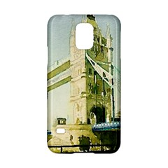 Watercolors, London Tower Bridge Samsung Galaxy S5 Hardshell Case