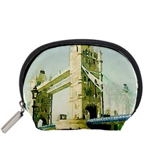 Watercolors, London Tower Bridge Accessory Pouches (Small)
