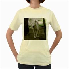 White Wolf Women s Yellow T Shirt