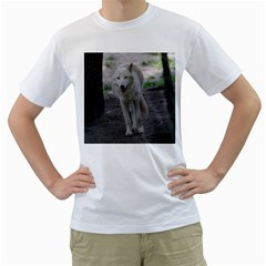 White Wolf Men s T Shirt (white) (two Sided)