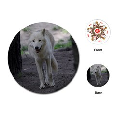 White Wolf Playing Cards (round)
