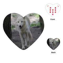 White Wolf Playing Cards (Heart)